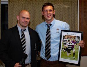Joe Doyle (R) with First Team Captain, Alex Smith