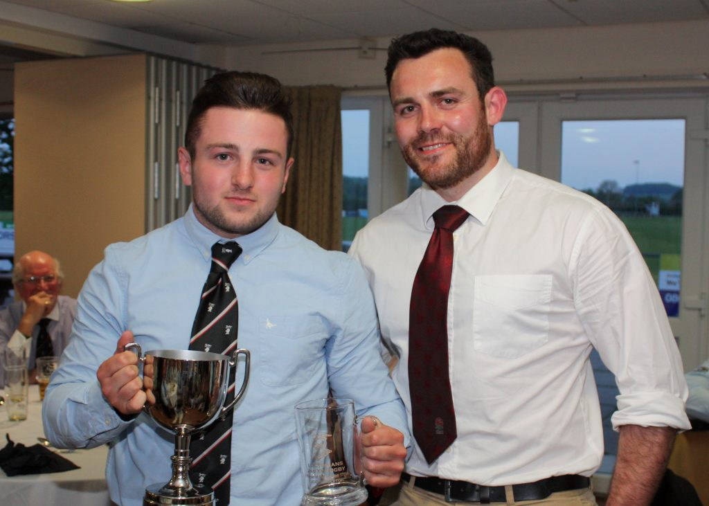2nd XV Player of the Season, Joel Middleton, with George Thomas