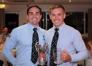 Ryan Watkins presents award to Josh Watkins