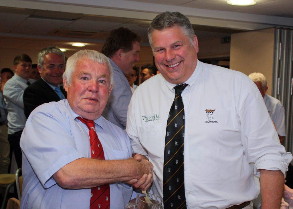 Alacadoo of the Season, Robin East with Chairman, Simon Whiteman